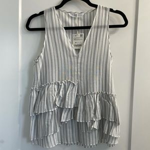 Zara Striped Flowy Tank